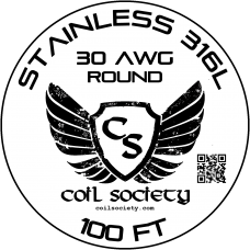 30 AWG Stainless Steel 316L — 100ft
