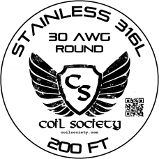 30 AWG Stainless Steel 316L — 200ft