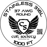 37 AWG Stainless Steel 316L