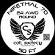 24 AWG Nifethal 70 — 50ft
