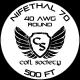 40 AWG Nifethal 70 — 500ft
