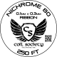 0.3mm x 0.1mm Ribbon Nichrome 80 — 250ft