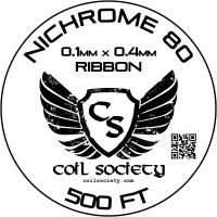 0.4mm x 0.1mm Ribbon Nichrome 80 — 500ft