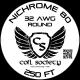 32 AWG Nichrome 80 — 250ft