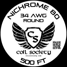 34 AWG Nichrome 80 — 500ft