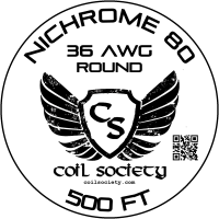 36 AWG Nichrome 80 — 500ft