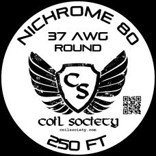 37 AWG Nichrome 80 — 250ft
