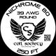 39 AWG Nichrome 80 — 250ft