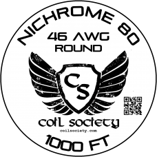 46 AWG Nichrome 80 — 1000ft