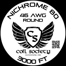 46 AWG Nichrome 80 — 3000ft