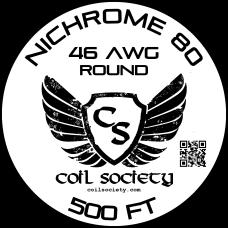 46 AWG Nichrome 80 — 500ft