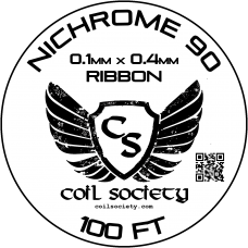 0.4mm x 0.1mm Ribbon Nichrome 90 — 100ft